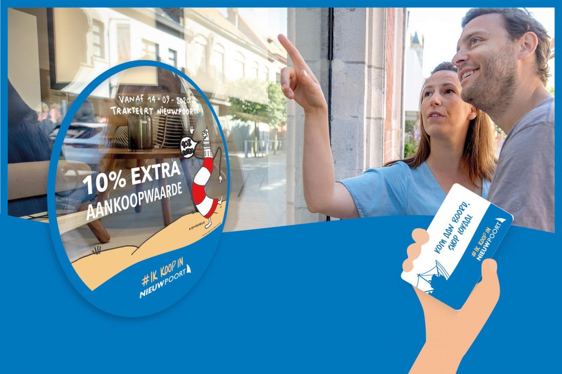 Ik koop in Nieuwpoort - deelnemers 10 % meer koopkracht actie